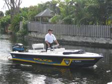 Photo of officer patrolling the waterways