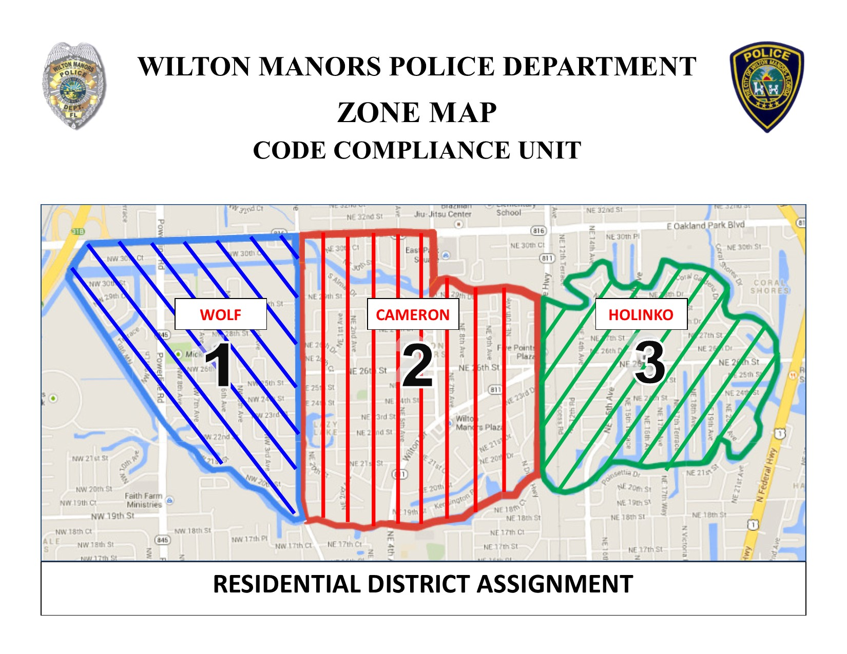 Residential District Code Map
