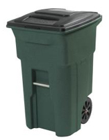 Green Trash Can