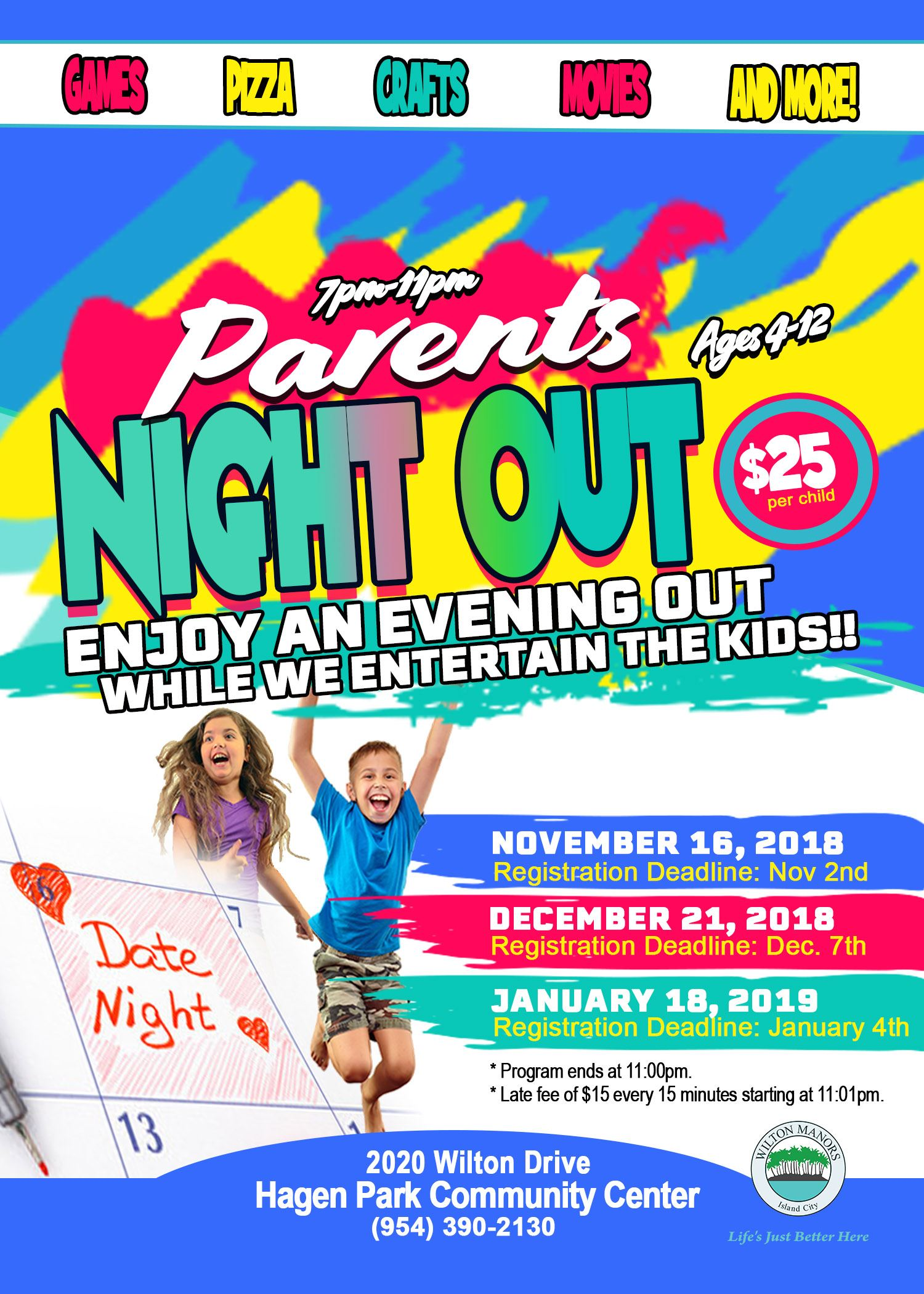 Parents Night Out 2018-2019