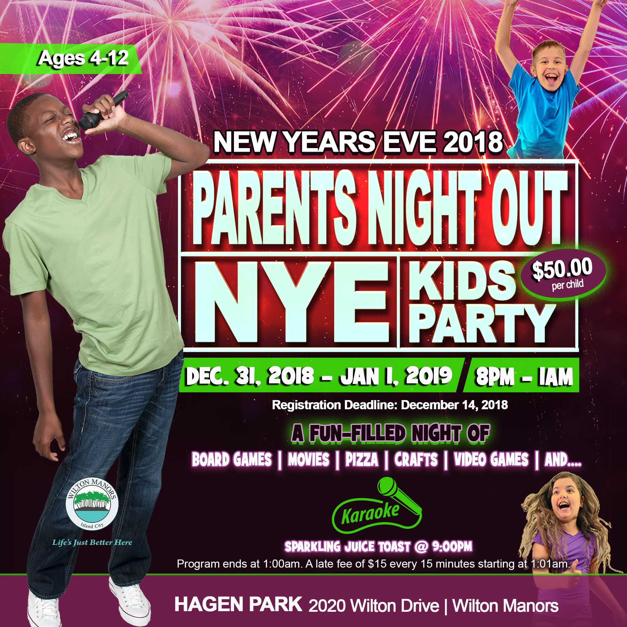 Parents Night Out New Year Kid Party