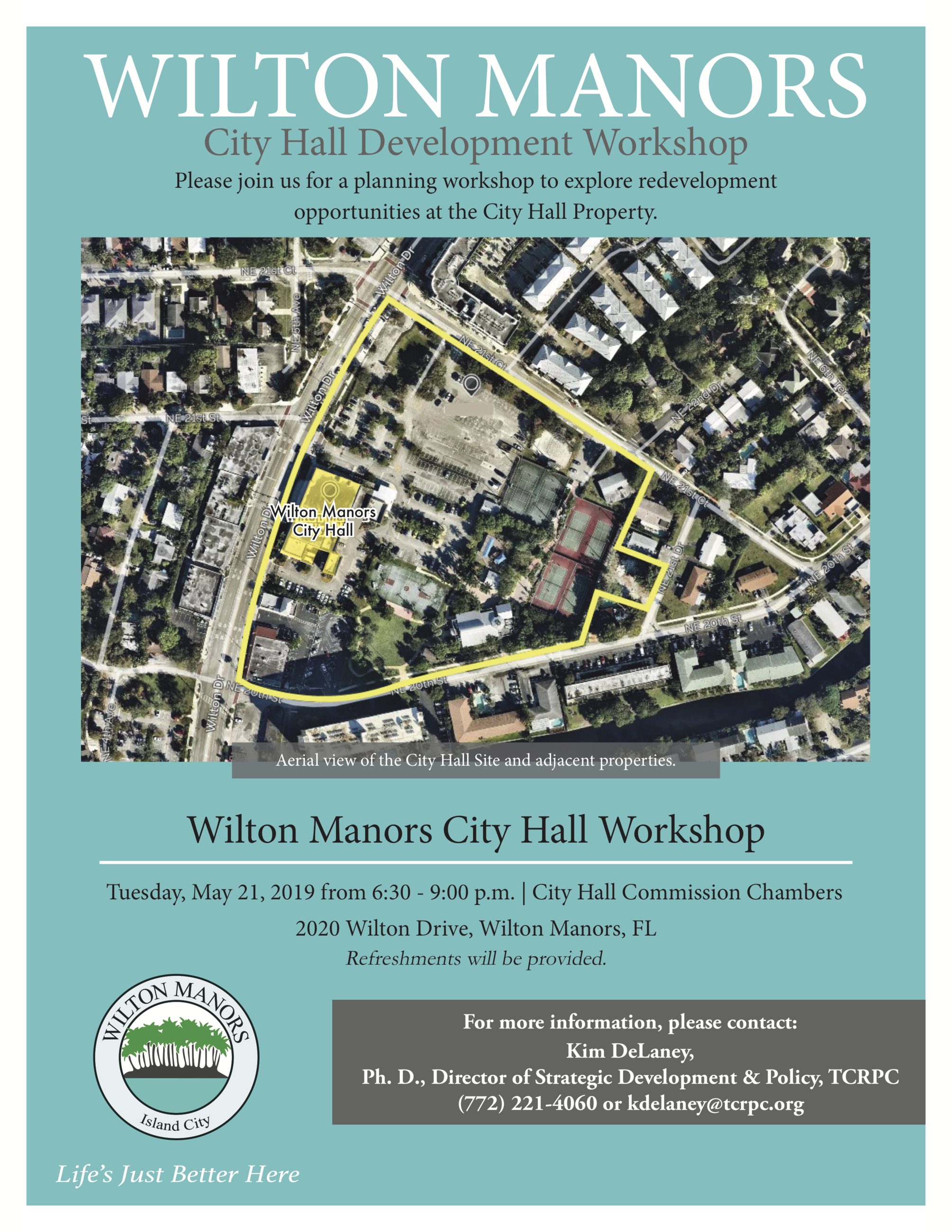 WM City Hall Development Workshop Flyer MAY 2019 FINAL DRAFT