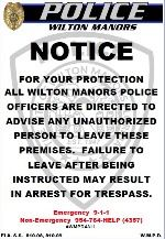 Trespass sign small