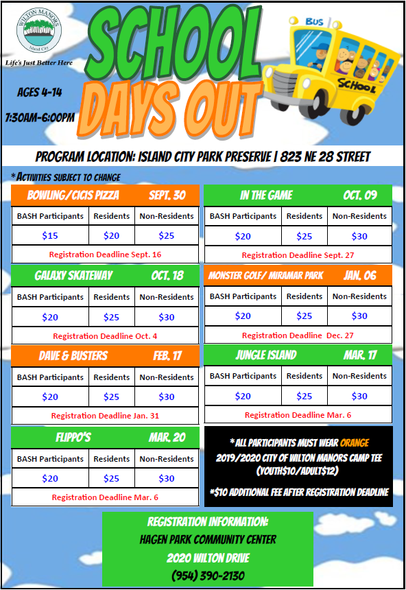 School Days Out Flyer