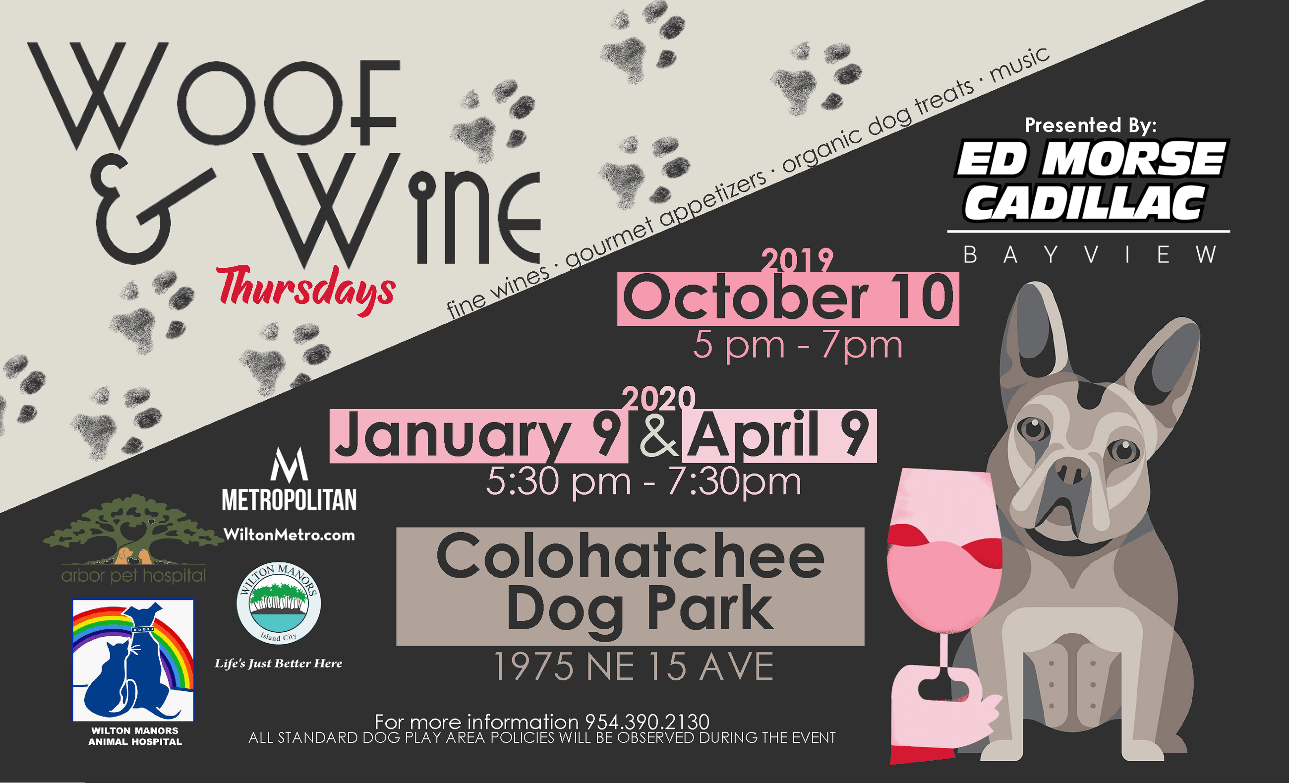 Woof and Wine Flyer