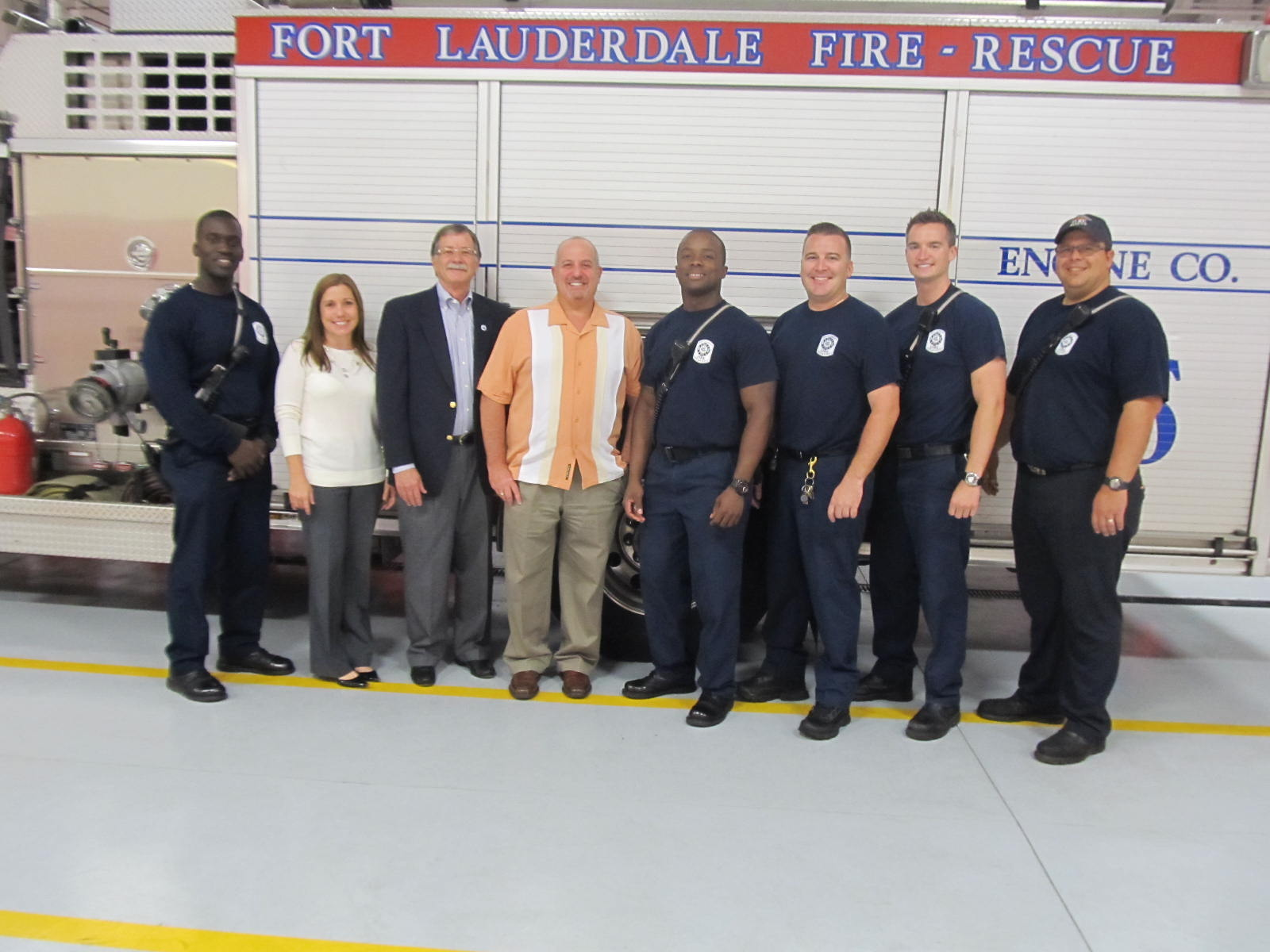 Mayor Gary Resnick and the Crew of Fire Station 44