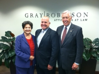 Mayor Resnick, Lois Frankel and Congressman Hoyer