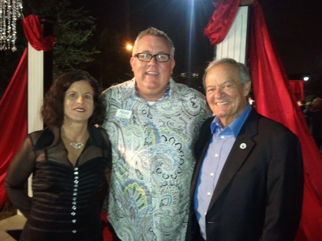 Vice Mayor Carson, Robert Boo, and Commissioner Green at the 2013 Evening in Paradise