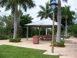 Photo of pavilion at Donn Eisele Park
