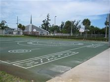 Photo of basketball court at Wilton Manors Elementary