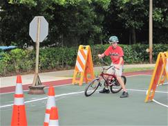 Photo of camper during the bike rodeo