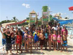 Photo of campers enjoying a day at the water park